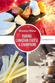 Canadian cheeses that are perfect for pairing with Champagne or sparkling wine. They're a wonderful combo for celebrating a special occasion. Canadian Cheese, Cheese Pairings, New Year's Eve Celebrations, Holiday Themes, Sparkling Wine, Charcuterie, Winter Holidays, Cocktail Recipes, Meal Prep