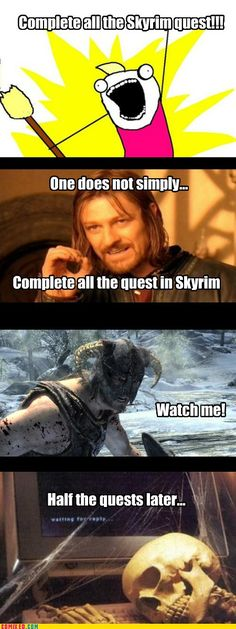 I bought Skyrim the day it was released, still haven't finished all the quests.