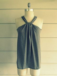 This summer halter used to be an over-sized t-shirt.