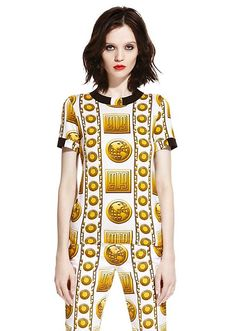 f990e7756b6cd8 M.I.A. x Versus Versace capsule collection. Flex some fashion muscle in  this instensly rich printed
