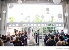 beautiful ceremony decorations   Prairie Productions Chicago   Jill Tiongco Photography   chicago wedding photographer