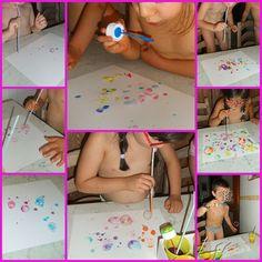 Piccoli bimbi crescono: Dipingere con l'aria: bolle colorate, cannucce e pluriball