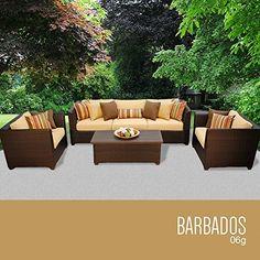 TK Classics Barbados 6 Piece Outdoor Wicker Patio Furniture Set 06g U003eu003eu003e  Continue Reading