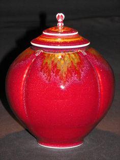 Tom Turner Porcelain w/ Copper Red Glaze