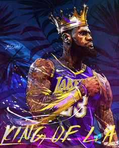 My painting of the new king of the NBA Los Angeles Lakers, Lebron James. Lebron James Lakers, King Lebron James, King James, Lebron James Dunk, Mvp Basketball, Basketball Tricks, Pickup Basketball, Curry Basketball, Fantasy Basketball
