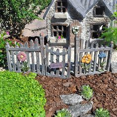 Miniature Gardening - Fairy Fence and Gate > $11.99    #miniaturegardening #fairygarden #planningaminiaturegarden
