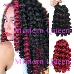 Freetress Ombre Wand Curl Janet Collection Synthetic Kanekalon Crochet Braids Noir 2x Bounce Twist Braid 8 10inch Hair Extensions 22 Roots Bulk Of Hair Wholesale Hair Products In Bulk From Modernqueen888, $9.16| Dhgate.Com Crochet Braids Marley Hair, Crochet Braid Styles, Twist Curls, Twist Braids, Jerry Curl, Natural Twists, Natural Hair, Synthetic Hair Extensions, Crochet Mittens