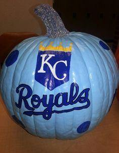 KC Royals Kansas City Glitter Stem. Halloween 2013