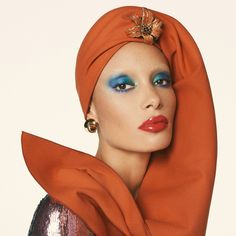 Photographer Steven Meisel, Model Adwoa Aboah, styled by Edward Enninful. Adwoa - Adwoa Aboah by Steven Meisel for Vogue UK December 2017 Steven Meisel, Vogue Uk, Turban Mode, Pat Mcgrath Makeup, Muse, Edward Enninful, High Fashion Makeup, Dope Fashion, Fashion Women