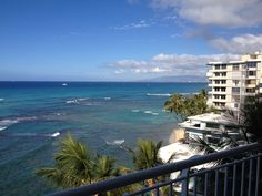 View of Waikiki from the Gold Coast. The water always seems extra blue on the Gold Coast!