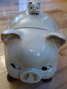 Vintage Otagiri Ceramic Pig Cookie Jar by TinsToysandTreasures, $19.99