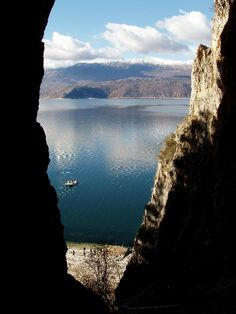 Cave in Megali Prespa lake