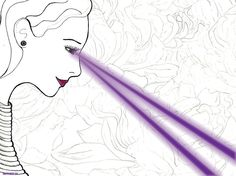 Violet Rays by ~starlachris on deviantART