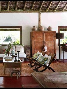 Home Interior Salas .Home Interior Salas Interior Tropical, Diy Interior, Tropical Decor, Asian Interior Design, Interior Colors, Interior Livingroom, Interior Paint, Home Decor Styles, Cheap Home Decor