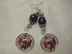 Resident Evil Zombie Image Dangle Earrings Silver by AGothShop, $12.00