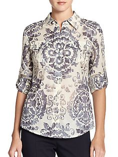 Tory Burch Printed Brigitte Blouse