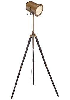 Lite Source Saga Brass Old Hollywood Adjustable Floor Lamp