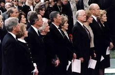 Clintons, Bushes, Reagans, Carters, and Fords all together...