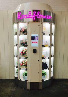 Our Vending Machines - Rockflower Vending Flower Shop Decor, Flower Shop Design, Vending Machines In Japan, Vending Machine Business, Digital Retail, Flower Truck, Spa Interior, Coffee To Go, Retail Store Design