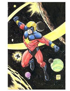 Captain Marvel by Tom Grummett Comic Art