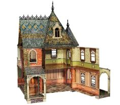 Dollhouse Miniature 1:12 Scale Victorian Gable One Pair