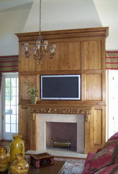 P.M. Services - Antique Pine Fireplace