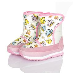 Waterproof genuine leather male female child boots child snow boots thickening snow cotton-padded shoes $19.69