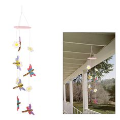 Herald of lazy summer afternoons, the dragonfly dances gracefully near the water's edge. Handcrafted by artisans in Lima, Peru, our colorful wind chime brings you the promise of endless summer and sweet musical tones that dance on the breeze