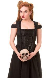 Banned - Gothic Kleid in Corsagenoptik