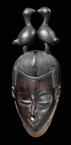 Africa | Mask from the Guro people of Ivory Coast | Wood
