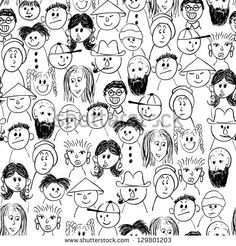 Stock Images similar to ID 140956039 - cute cartoon doodle seamless...