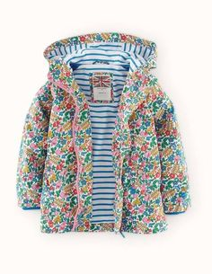 Jersey Lined Anorak 35115 Coats at Boden - Multi Spring (MUL)
