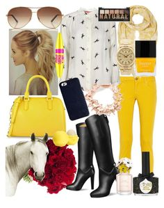 """""""yellow horse ?"""" by maryterojasf ❤ liked on Polyvore featuring Garcia, M Missoni, Joules, STELLA McCARTNEY, Bill Skinner, Ciaté, CHARLES & KEITH, Rolex, Tom Ford and The Case Factory"""