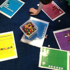 Graphing dice rolls. Comparing results. Grade 2/3 Maths. Chance and Data.