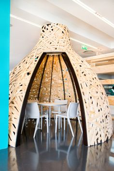 Stimulating connectivity in the workplace is paramount Designed by Inhouse Brand Architects Cape Town, Offices, Workplace, Architects, Teal, Interiors, Colour, Studio, Brown