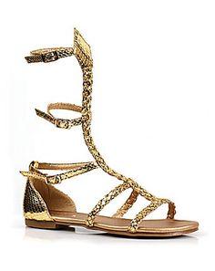 Child's Flat Gold Gladiator Sandal