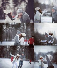 Winter couple photos: