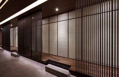KU kappo Japanese Dining + Izakaya Restaurant by Betwin Space Design, Seoul – South Korea Chinese Interior, Asian Interior, Japanese Interior, Interior Exterior, Modern Interior Design, Japanese Modern, Japanese House, Japanese Design, Traditional Japanese