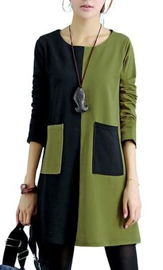 Fashion Long Sleeve Fall Dresses For Women