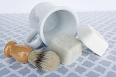 Shaving Soap Gift Set for Him or her 2 pucks 2 bars mug