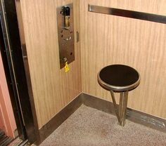 ...when elevators had operators and they sat on a little stool.