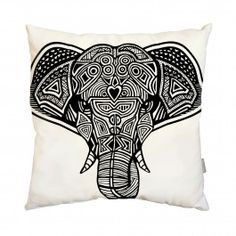 the epitome of safari chic // Elephant Pillow