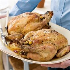 Angela Boggiano Roast chickens with a fragrant couscous stuffing Recipe   delicious. Magazine free recipes