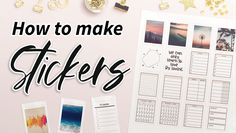 How to make Sticker Sheets Printable Letters, Printable Labels, Printable Planner, Free Printables, How To Make Stickers, Planner Layout, Planner Organization, Planners, Learning