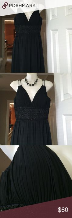 OC by Oleg Cassini Formal Dress Beautiful and elegant formal dress with beading. Excellent condition only tried on. All reasonable offers considered. Oleg Cassini Dresses