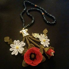 This Pin was discovered by Şer Needle Lace, Simile, Needlework, Crochet Earrings, Jewels, Flowers, Stuff To Buy, Mavis, Lace