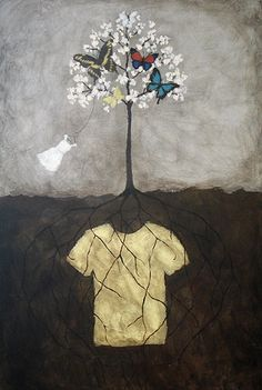"""""""Butterfly Tree"""" by Rebecca Rebouche Art Painting, Fine Art, Tree Painting, Painting, Illustration Art, Art, True Art, Street Art, Rebecca Rebouche"""