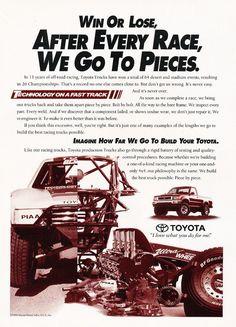 1995 Toyota Truck Race Original Car Advertisement Print Ad