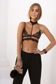 5002a785110aa Amour Bralette - Black - Tops by Sabo Skirt
