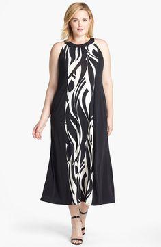 Evans Swirl Print Jersey Dress (Plus Size)   Nordstrom